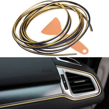 Golden Universal 5M Car Styling Moulding Decor Filler Strip Interior Exterior