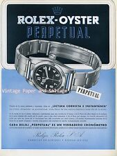 1945 Rolex Oyster Perpetual Watch Advert Vintage 1940s Swiss Ad Publicite Suisse