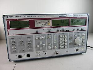 Rohde & Schwarz Test Receiver ESVD 20-2050 MHz (Self Test Error, AS IS)