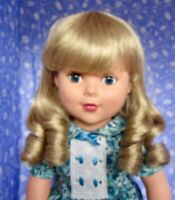 Bell EMILE Blond Full Cap Doll Wig Size 11-12  Long Ringlets with bangs.