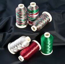 Marathon Variegated & Metallic Embroidery machine thread for Christmas project