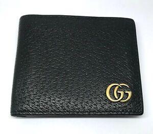 GUCCI GG  Black Leather Calfskin Men's Wallet