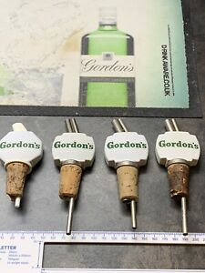 4x Vintage Gordon's Gin Ceramic Bottle Stop Pourer (3 of the same kind)