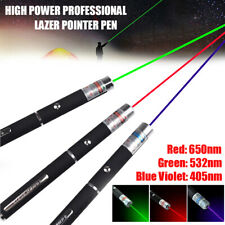 Blue Purple Green Red Beam Laser Lazer Light Pointer Pen Powerful 650/532nm