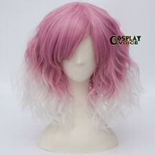 Curly Short Party 35cm Heat Resistant Curly Anime Halloween Cosplay Wig+Cap