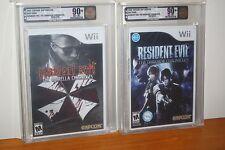 Resident Evil Umbrella + Darkside Chronicles (Wii) NEW SEALED MINT SET VGA U90+!