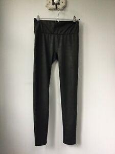 Gorgeous Ladies Calzedonia Black Shimmery Leggings, UK Size Medium, Very Good Co