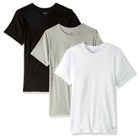 Calvin Klein Undershirts Cotton Classics 3 PK Slim Fit Crew Neck T-Shirts, 0014