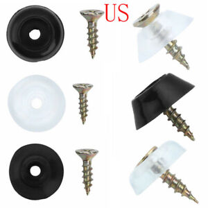 20 Rubber Non Slip Grip Furniture Feet Pad w/Screw Table Chair Bumper Protection