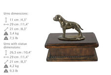 Staffy, dog exclusive urn made of cold cast bronze, Art Dog, UK