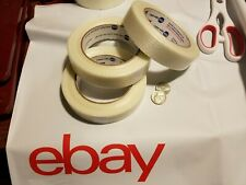 3 Rolls 1 X 60 Yds Fiberglass Reinforced Filament Strapping Packing Tape Clear