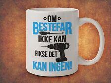 OM BESTEFAR IKKE KAN FIKSE DET KAN INGEN Grandpa Grandad Norway - White Mug