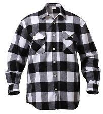 Extra Heavyweight Brawny Buffalo Plaid Flannel Shirt Long Sleeve Rothco 4739