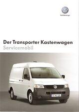 Prospekt / Brochure VW Transporter Kastenwagen Servicemobil 05/2005