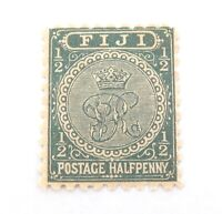 .FIJI 1890s QV 1/2d MH STAMP. GOOD COLOUR, NICE GRADE.