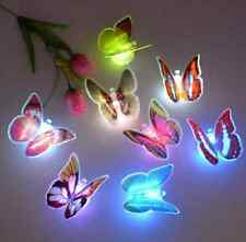 1X7 Changing Color Xmas Cute Stick-on Butterfly Wall Decor LED Night Light Lamp
