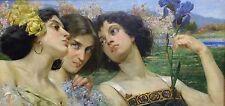 Luigi de Servi (1864 - 1945) Portrait of three women dated 1902!