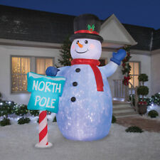 Home Holiday INFLATABLE AIRBLOWN SNOWMAN GIANT 10FT OUTDOOR Light Up Yard Décor