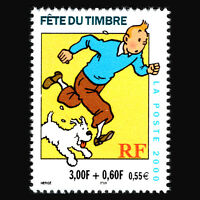 "France 2000 - Day of Stamps ""Tintin"" - Sc 2766 MNH"