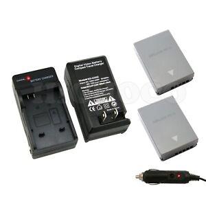 2 x 1600mAh BLN-1 BLN1 Battery + Wall + Car Charger for Olympus OM-D E-M5 EM5