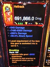 DIABLO 3 MODDED PRIMAL ANCIENT WEAPON HELLRACK HIGHEST DPS HIGH EXP XBOX ONE