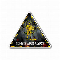 Zombie Apocalypse Biohazard Radioactive Sign Sticker