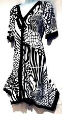 plus sz XXS / 12 TS TAKING SHAPE Damask  Dress stretch easy-wear NWT!rrp $110