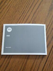 Motorola i465 User's Guide Manual