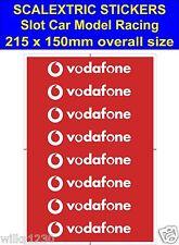 Scalextric Slot car stickers Model Race Vodafone R Logo Lego self adhesive vinyl