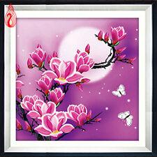 YGS-39 Round Diamond Painting Cross Stitch Stickers Magnolia flowers