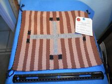 Navajo Rug 11 1/4 x 13 (lg Cross) Brandon Allen, Cottonwood Ariz ABA - 15161