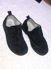 Gap Black Suede Oxford Dress Shoe Toddler Boy Size 9