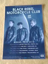 BLACK REBEL MOTORCYCLE CLUB - 2018  AUSTRALIA Tour - Laminated Promo Tour Poster
