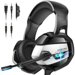 ONIKUMA PS4 Headset -Xbox One Headset Gaming Headset Noise Canceling Gaming K5