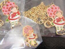 STRAWBERRY SHORTCAKE DOLL   3 SEALED JEWELRY   ring bracelet necklace '80s MINT!