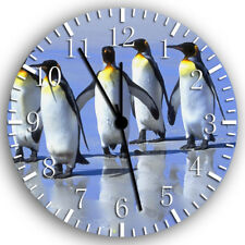 Cute Funny Penguins Frameless Borderless Wall Clock Nice For Gifts or Decor Z75