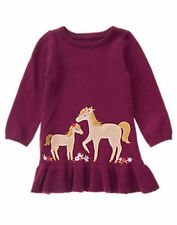NWT GYMBOREE PLUM PONY  LONG SLEEVE HORSE SWEATER  DRESS SIZE 6-12 MONTHS