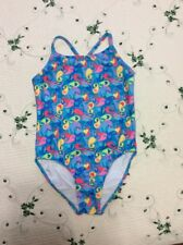 """GIRL'S SIZE 14 """"DOLFIN"""" BLUE, MULTICOLORED, PAISLEY, ONE PIECE, SWIMSUIT"""