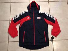 Rare NWT ADIDAS New England Revolution MLS  Rain Hooded Jacket Men's Large