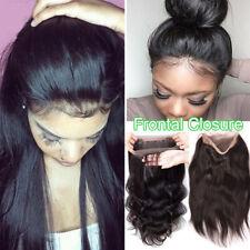 US NEW Frontal Lace Band Malaysian 8A Virgin Human Hair Weave Weft 360 Closure U