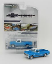 1:64 GreenLight *ANNIVERSARY COLLECTION* Blue 1972 Chevrolet C10 Pickup *NIP*