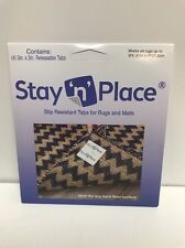 Stay N Place 4 pk. Skid-Resistant Non Slip Tabs Rug Gripper Mat Releasable Tape