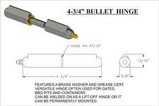 "ONE  4-3/4"" Bullet Hinge Brass Bushing/Grease Zert 48236"