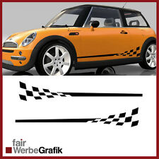 GT3 Look für alle Mini Cooper Modelle Racing Rennflagge Aufkleber #111