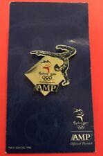 Sydney 2000 Olympic Games AMP Sponsor Pin - Gymnast on a backing board