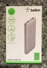 Belkin Pocket Power 10,000mAh Power Bank aka Portable Charger Silver