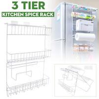 2/3 layer Hanging Rack Organizer Spice Storage Shelf Kitchen Refrigerator Holder