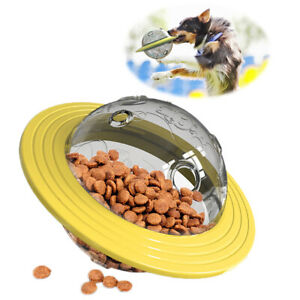 Pet Cat Dog Tumbler Slow Feeder Interactive Ball Toy Leakage Food Dispenser IQ