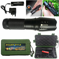 5 Mode Tactical XML T6 Zoomable LED Flashlight Rechargeable Torch Lamp + Charger