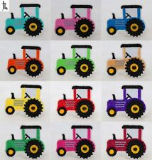 12PCS Tractor Car Embroidered Cloth Iron On Patches Sewing Fabric Motif Applique